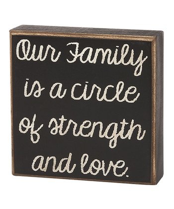 'Our Family Circle' Box Sign