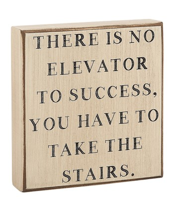 'Elevator to Success' Box Sign