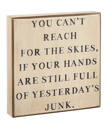 'Yesterday's Junk' Box Sign