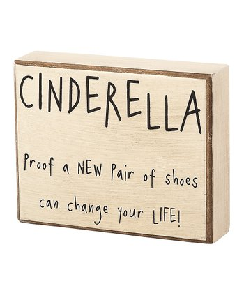 'Cinderella' Box Sign