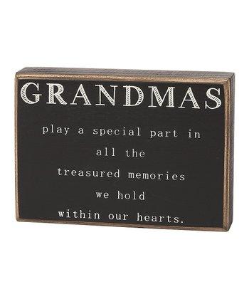 'Grandmas' Box Sign