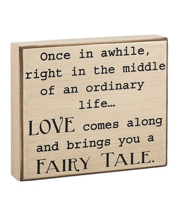 'Fairy Tale' Box Sign