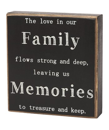 'Leaving Us Memories' Box Sign