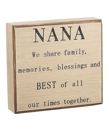 'Nana' Box Sign