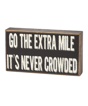 'Extra Mile' Box Sign