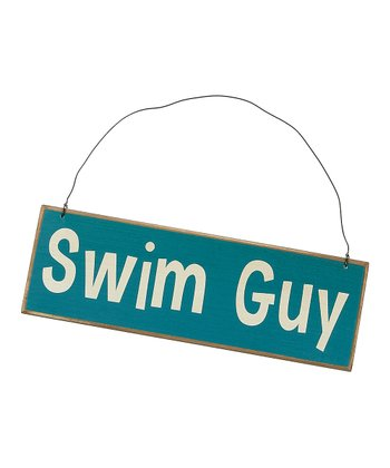 Blue 'Swim Guy' Sign