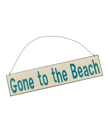 Cream 'Gone to the Beach' Sign