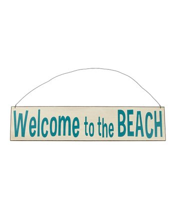 Cream 'Welcome to the Beach' Sign
