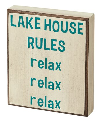 Cream 'Lake House' Box Sign
