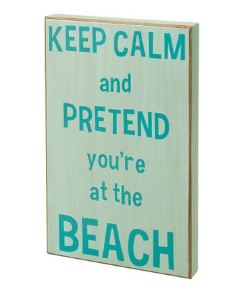 Light Blue 'Keep Calm' Box Sign