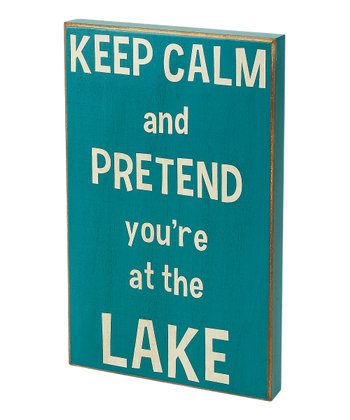 Blue 'Keep Calm' Box Sign
