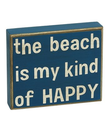 Blue 'My Kind of Happy' Box Sign