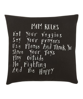 'Mom Rules' Pillow