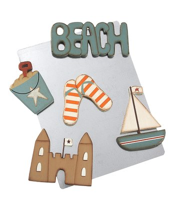Blue & Cream Beach Time Magnet Set