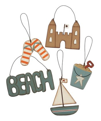 'Beach' Ornament Set