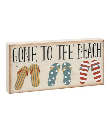 Cream 'Gone to the Beach' Flip-Flop Block