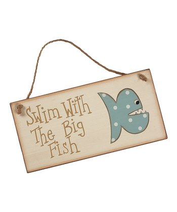 Cream & Blue 'Big Fish' Sign