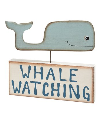 Cream & Blue 'Whale Watching' Block