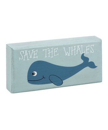 Blue 'Save the Whales' Block
