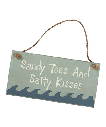 Blue & Cream 'Sandy Toes' Sign