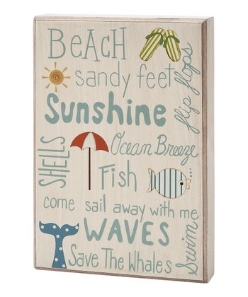 'Beach Sunshine' Box Sign