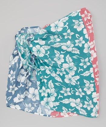 Blue & Berry Hibiscus Sarong