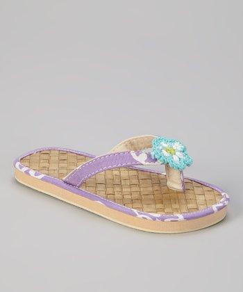Lavender Cool Breezes Flip-Flop