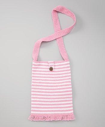 Cotton Candy Stripe Island Life Bag