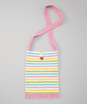 Pink & Yellow Stripe Island Life Bag