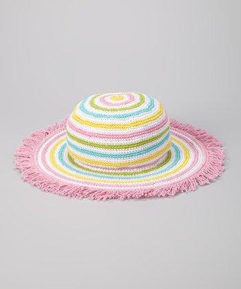 Pink & Yellow Stripe Island Life Sunhat