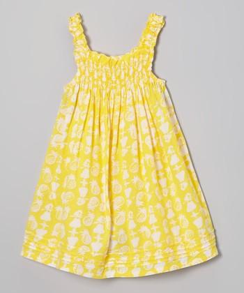 Banana Catlin Shirred Dress - Infant, Toddler & Girls