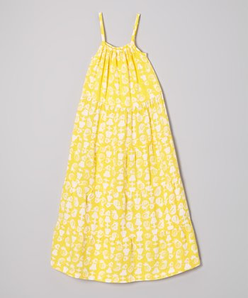 Banana Tropical Maxi Dress - Girls