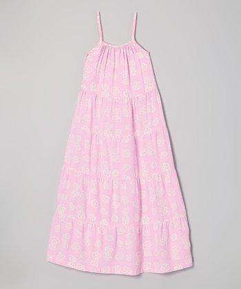 Cotton Candy Flower Maxi Dress - Girls