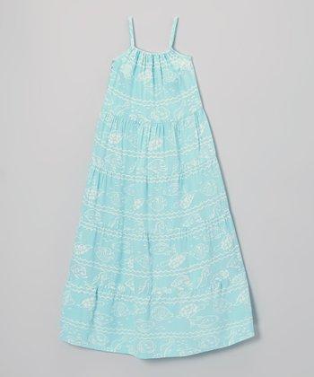Pool Fish Maxi Dress - Toddler & Girls