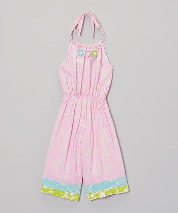 Cotton Candy Flower Romper - Toddler & Girls