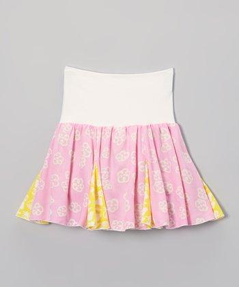 Pink & Banana Reversible Skirt - Toddler & Girls