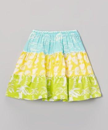 Pool & Banana Tiered Skirt - Toddler & Girls