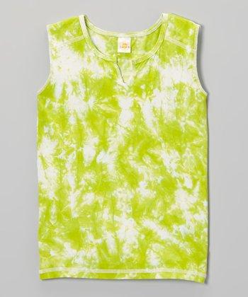 Green Apple Tie-Dye Tank - Toddler & Girls