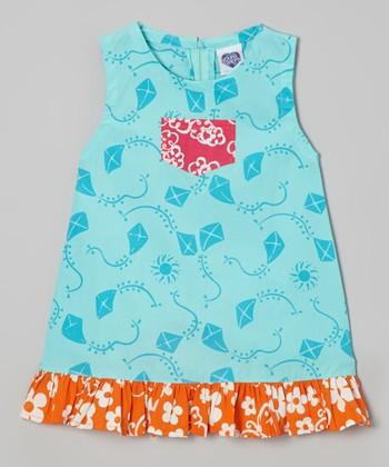 Teal Kite Diane Swing Dress - Infant, Toddler & Girls