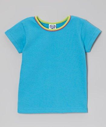 Teal & Lime Tee - Infant, Toddler & Girls
