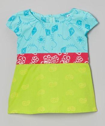 Teal & Lime Joy's Top - Toddler & Girls