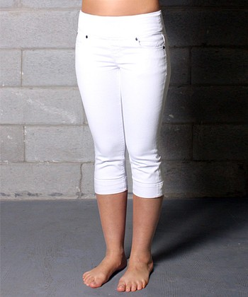 White Michelle Crop Jeans