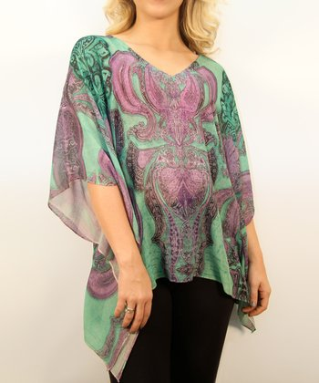 Temperance Arabesque Cape-Sleeve Top - Women