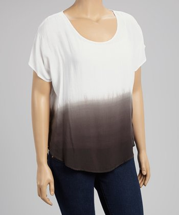 Black & White Ombré Top - Women & Plus