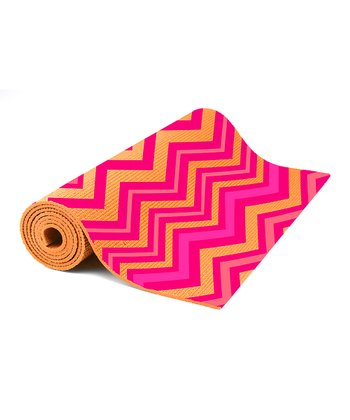 Pink & Orange Zigzag Yoga Mat