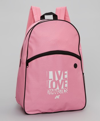 Pink 'Live Love Gymnastics' Backpack