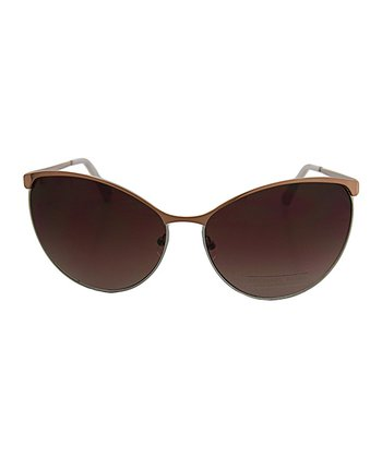 Rose Gold Metal Sunglasses