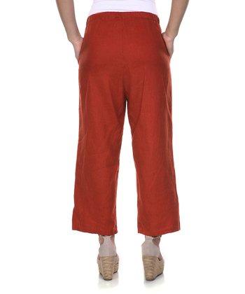 Rust Linen Capri Pants - Women & Plus