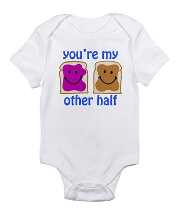 White 'You're My Other Half' Bodysuit - Infant