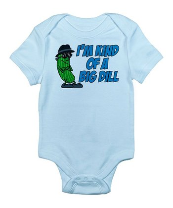 Sky Blue 'I'm Kind of a Big Dill' Bodysuit - Infant